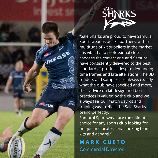 test Twitter Media - Such a fantastic feeling whenever we hear from our satisfied customers! Thank you @SaleSharksRugby for this excellent feedback. Want great kit like the Sale Sharks? Check out our teamwear catalogue and become a part of the #SamuraiFamily >> https://t.co/V7KAJQM8kw https://t.co/g5Dpu9Pn2S