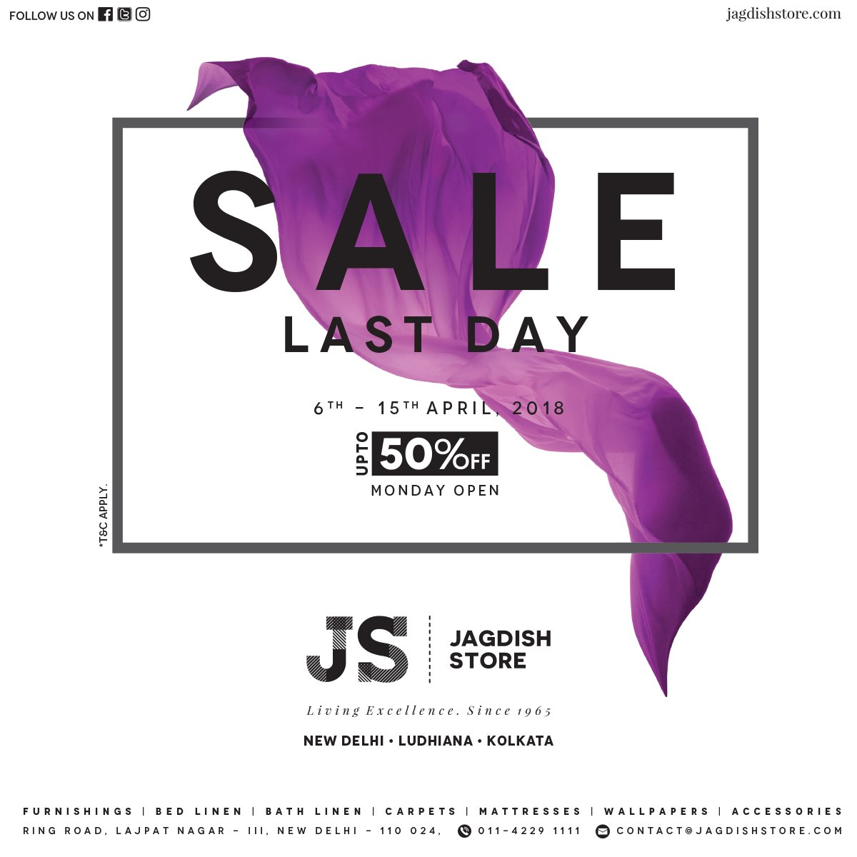 Jagdish Store On Twitter It S The Last Day Of The Sale At