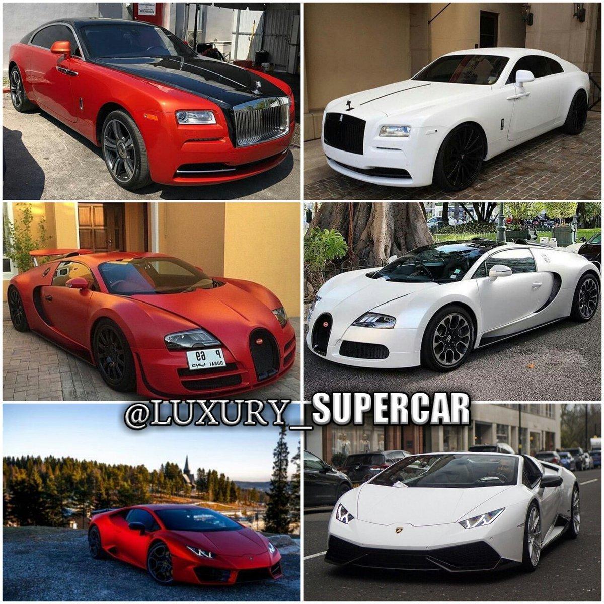 Luxury Super Car On Twitter Red Or White Rollsroyce Bugatti