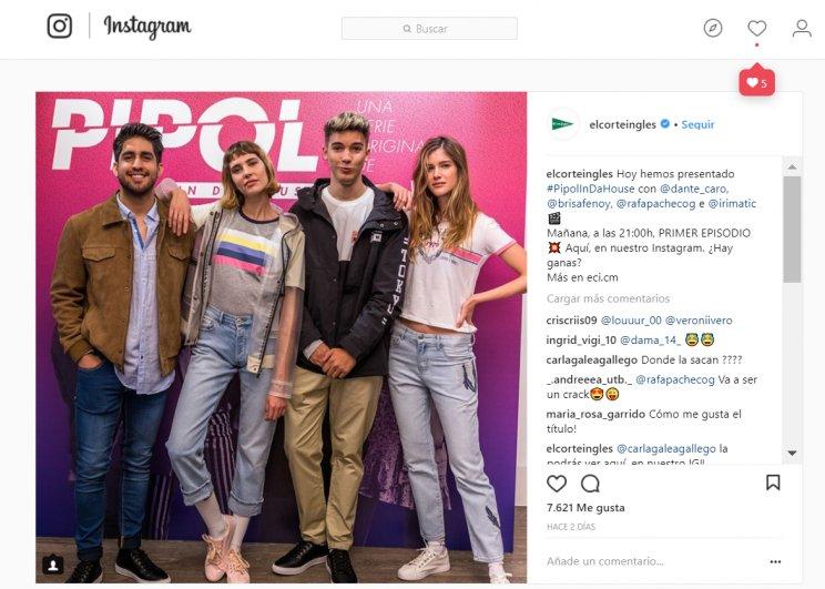 Semymas On Twitter El Corte Inglés Crea La Primera Serie En Instagram Pipolindahouse Protagonizada Por 4 Influencers Para Presentar La Nueva Temporada De Sus Marcas De Moda Joven Scon Esta Estrategia El