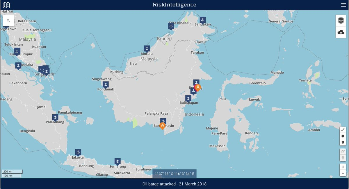 Risk intelligence on twitter kalimantan has been the scene of an oil spill at balikpapan could result with affected fishermen turning to piracy to replace lost income risk intelligence system mariskportrisk gumiabroncs Choice Image