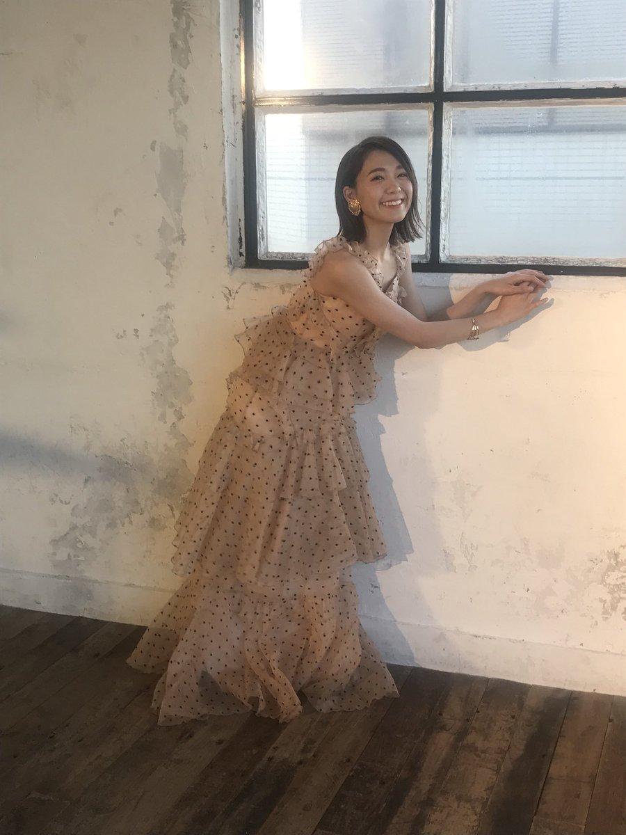 水玉ドレスの斉藤朱夏