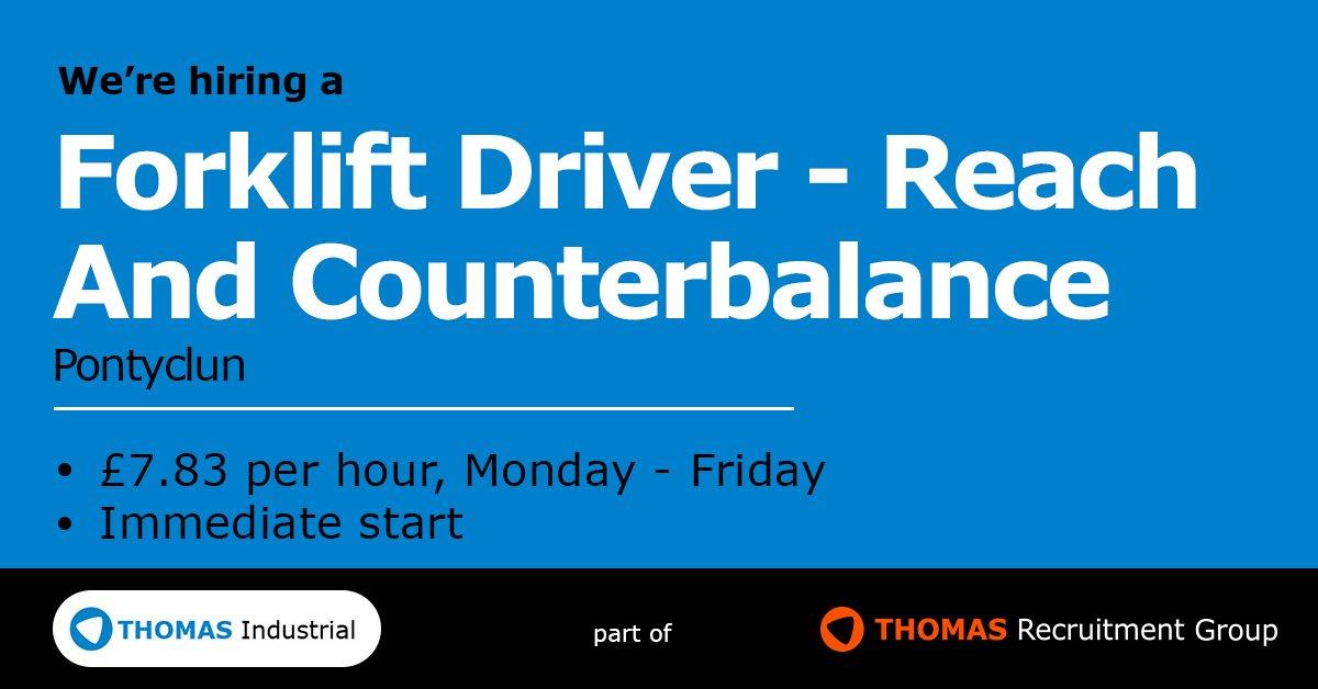thomas recruitment on twitter job alert forklift driver