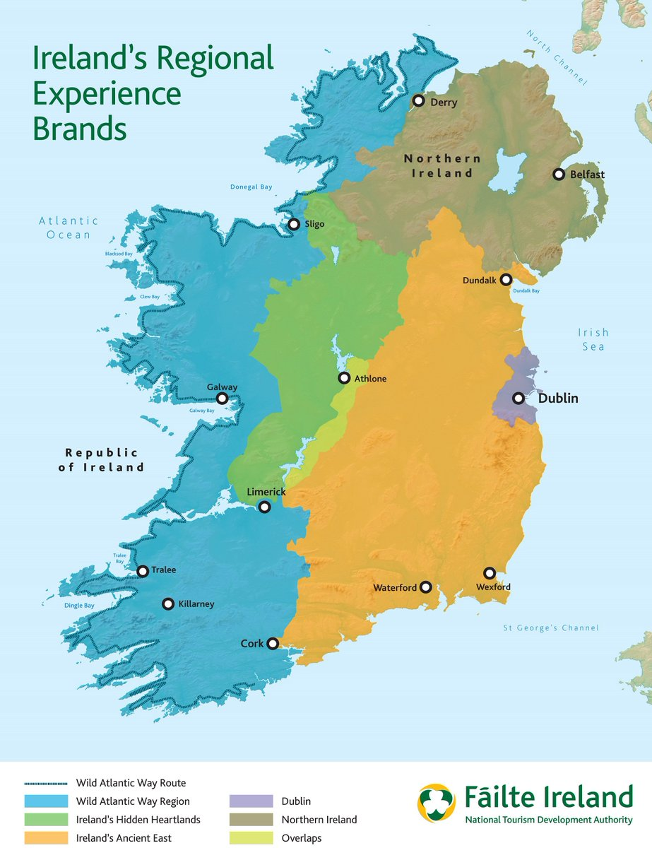 Full Map Of Ireland.Pol O Conghaile On Twitter Full Tourism Brand Map For Ireland