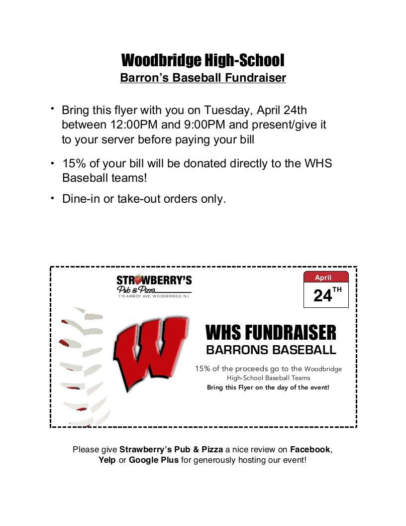 woodbridge hs baseball on twitter save the date whs baseball