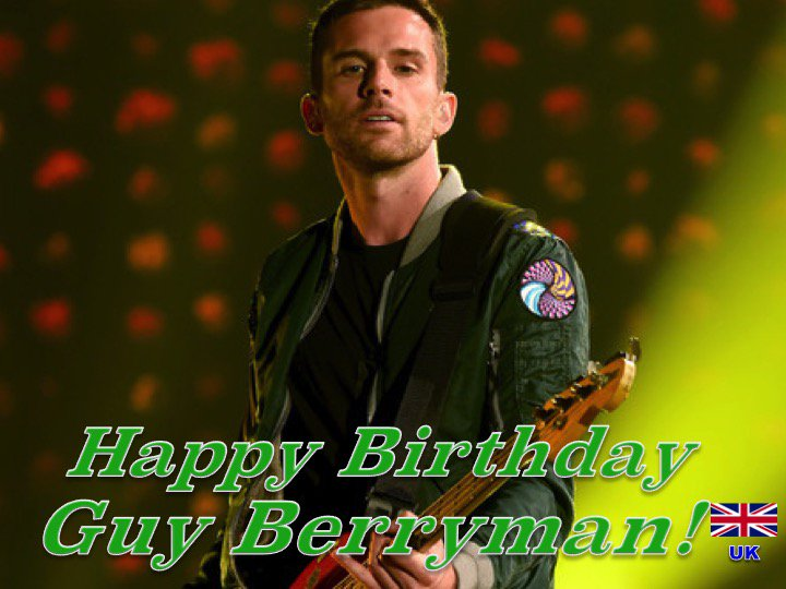 Happy 40th Birthday to #coldplays #GuyBerryman! ❤️🇬🇧🎶🎸🎹🎤🎂🎉🎁🎈🌟💫🎇