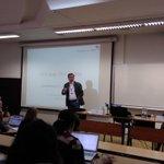 Image for the Tweet beginning: Ruud Luijkx presents the methodological