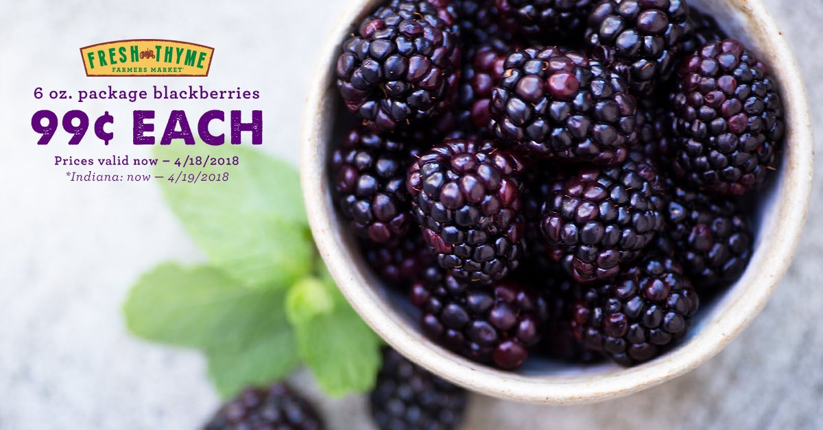 Fresh Thyme On Twitter Blackberries Sale For Just 99 Now