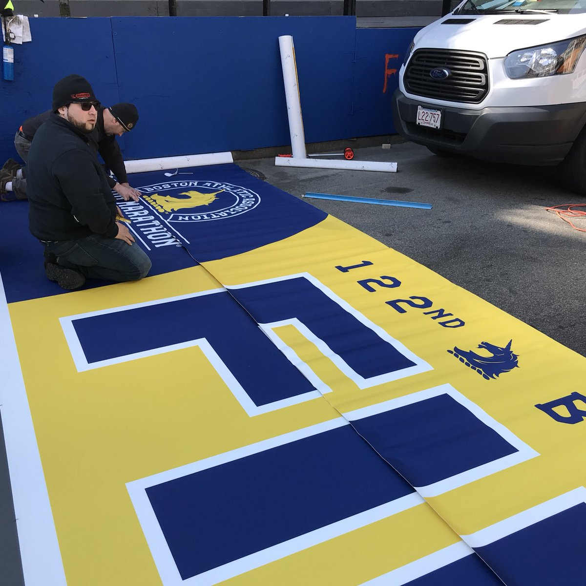 The installation of the #BostonMarathon...