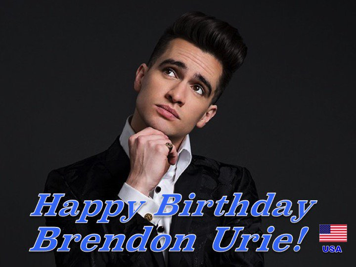 Happy 31st Birthday to #panicatthediscos #BrendonUrie! @brendonurie ❤️🇺🇸🎶🎸🎹🎤🎂🎉🎁🎈🌟💫🎇