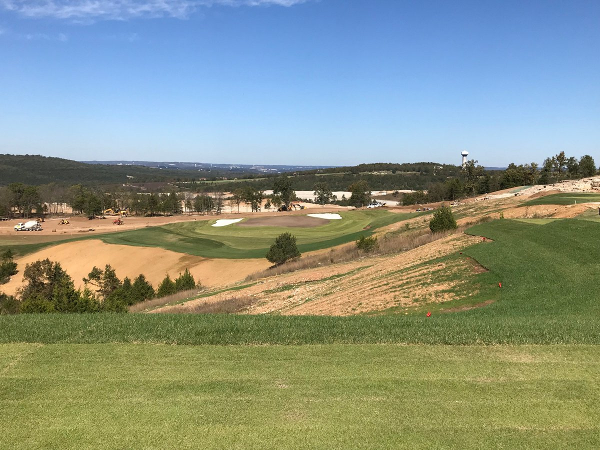 Looking forward to another design visit @GolfBigCedar next week with @TigerWoods. Payne's Valley is coming along nicely.