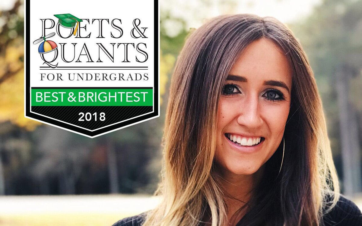 RT @WakeForestBiz: Congrats Katie! Selected as one of @PoetsAndQuants best and brightest! https://t.co/6u0TscxLZj