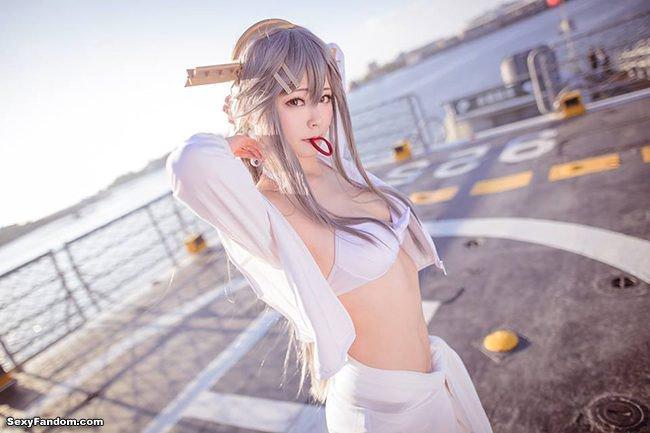 Sexy Fandom: Bright and Beautiful Haruna Cosplay https://t.co/5J2N8Crddq...