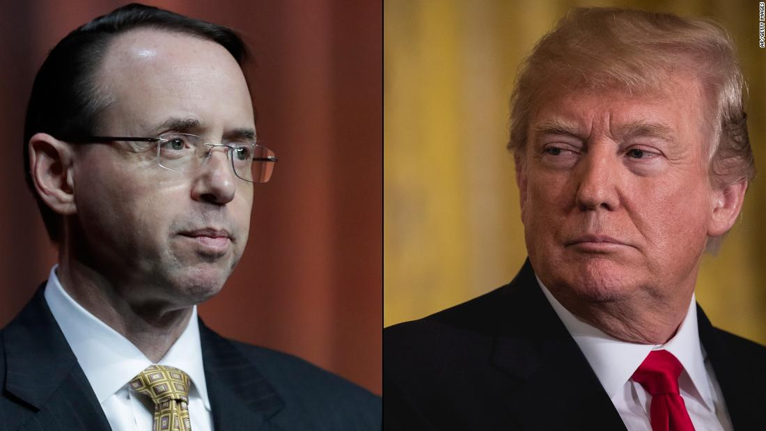 The White House is preparing to cast Deputy Attorney General Rod Rosenstein as too conflicted to fairly oversee the Russia probe https://t.co/VriKj7rOGK