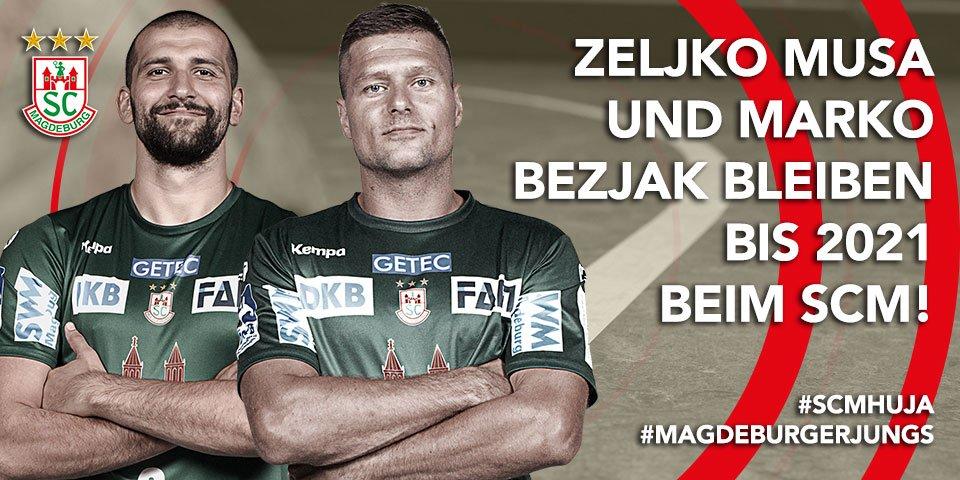 +++ Zeljko Musa und Marko Bezjak verlängern ihre Verträge beim SC Magdeburg bis 2021! Danke Jungs! +++ https://t.co/3njrNPMCMG