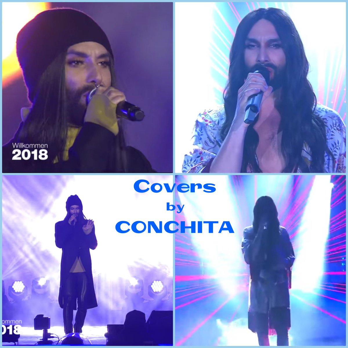 #Conchita &#39;s way to sing these two wonderful song is unique and his voice is incredible  #ThisIsMe &amp; #TheShowMustGoOn    https:// youtu.be/7MLIkG6d32U  &nbsp;     https:// youtu.be/aDhVzdPtUaQ  &nbsp;   #ConchitaWurst #TomNeuwirth #theunstoppables #ConchitaLIVE <br>http://pic.twitter.com/ScEaeL9eFp