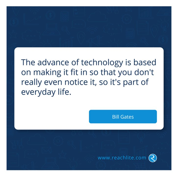 #Technology is simple, informative, and interactive thus enriching our lives.   We have over 100,000 users including #Healthcare, #Insurance, #Software companies!  Learn more &gt;  http://www. reachlite.com  &nbsp;   @Reachlite   #HIMSS #GovIT #EMR #Apps #HCIT #PDF #TechNews #Business #BrandHIT <br>http://pic.twitter.com/AAjFbVUf05