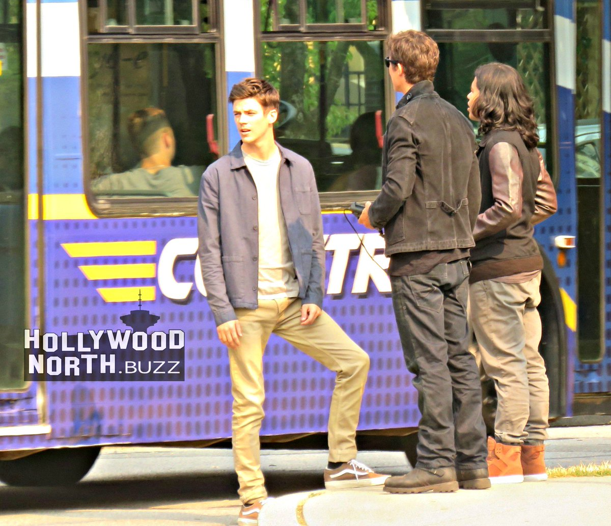 8b054ba3a4e #TheFlash meta-bus back at east Vancouver's Gaston Park today Time flies.  It's been 8 months since I saw