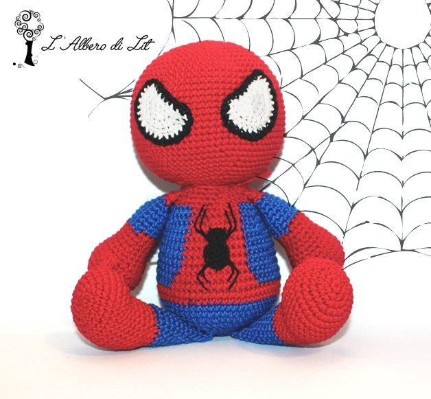Spider-Man Amigurumi – Minasscraft Patrones Amigurumis | 581x628