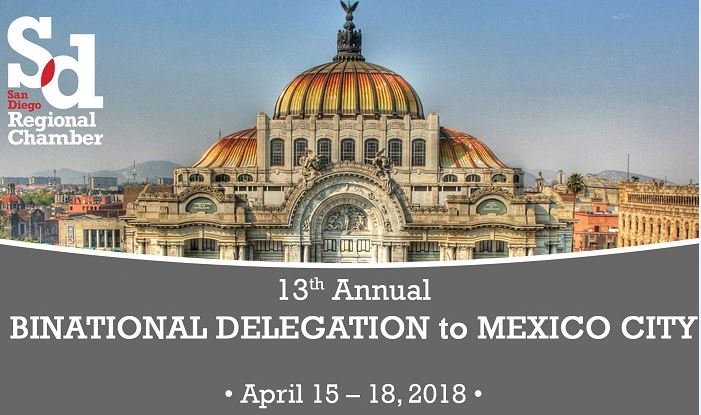 SD & Baja biz and community leaders are headed to Mexico City to meet w/ federal legislators & communicate our region's ongoing support for the US-MX relationship and discuss opportunities for collab on regional projects and issues. Read more:  https://t.co/L0vMnXX5i5#SDinMX