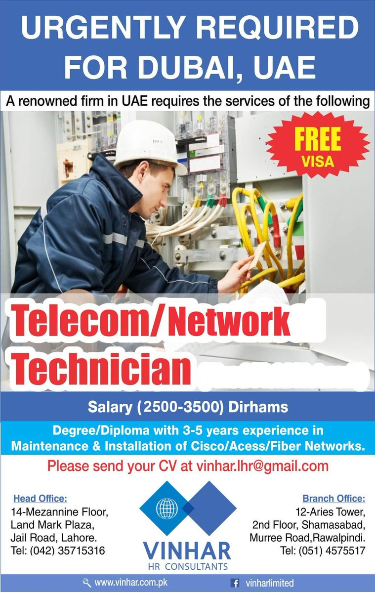 Telecom Jobs In Uae