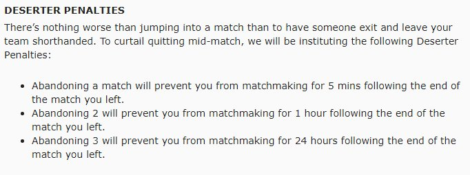 Prevented from matchmaking for 24 hours