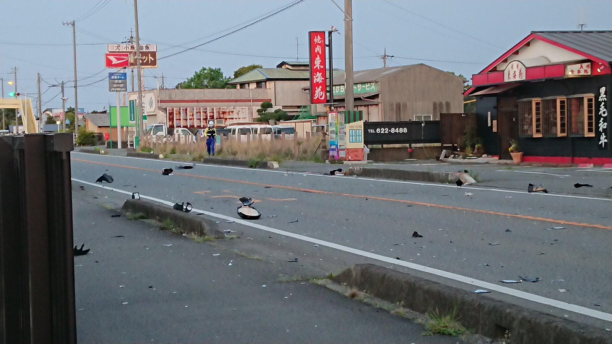 画像 : 静岡県焼津市上小杉の国道150線内でひき逃げ事故発生 ...