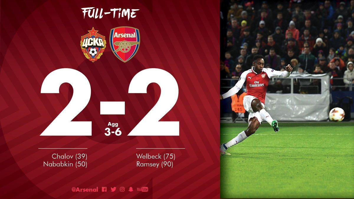 Chấm điểm kết quả CSKA Moscow 2-2 Arsenal