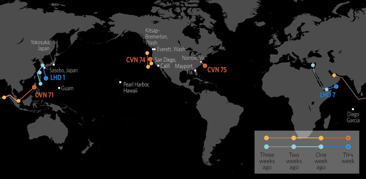 The uss iwo jima is underway in a deployment in the u s  5th fleet
