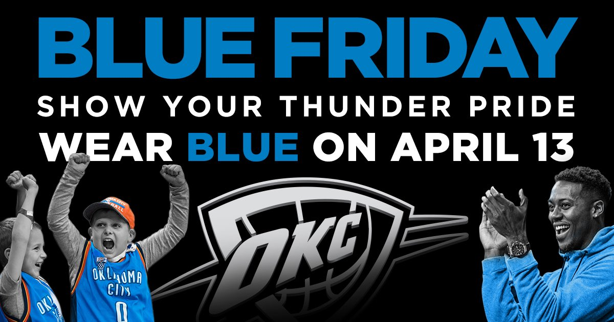 Don't forget to wear blue tomorrow and share your photos with us using the hashtag #WeAreThunder. https://t.co/Qbog07whlz