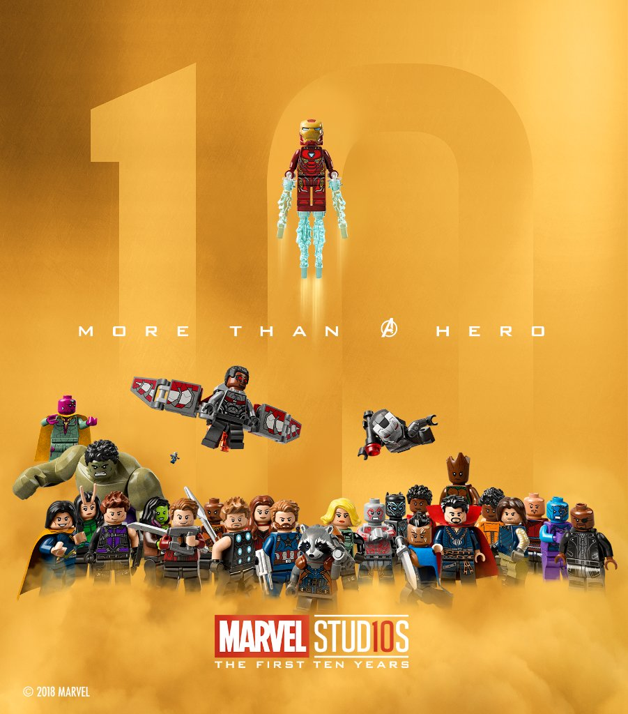 Celebrating 10 years of being more than just a hero. @LEGO_Group #LEGOMarvel https://t.co/T5MSpzgKPz