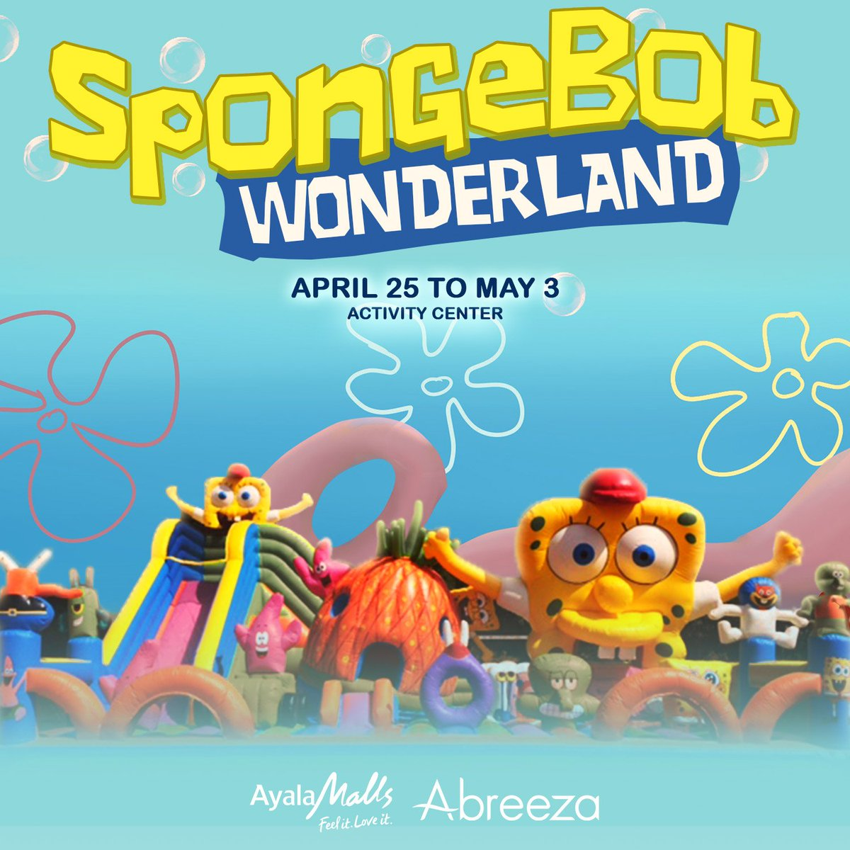 Abreeza With Spongebob Wonderland A Giant Inflatable Indoor Park For Both Kids AND Adults Entrance Fee Is P150 Head Hour So Come Over And Join The