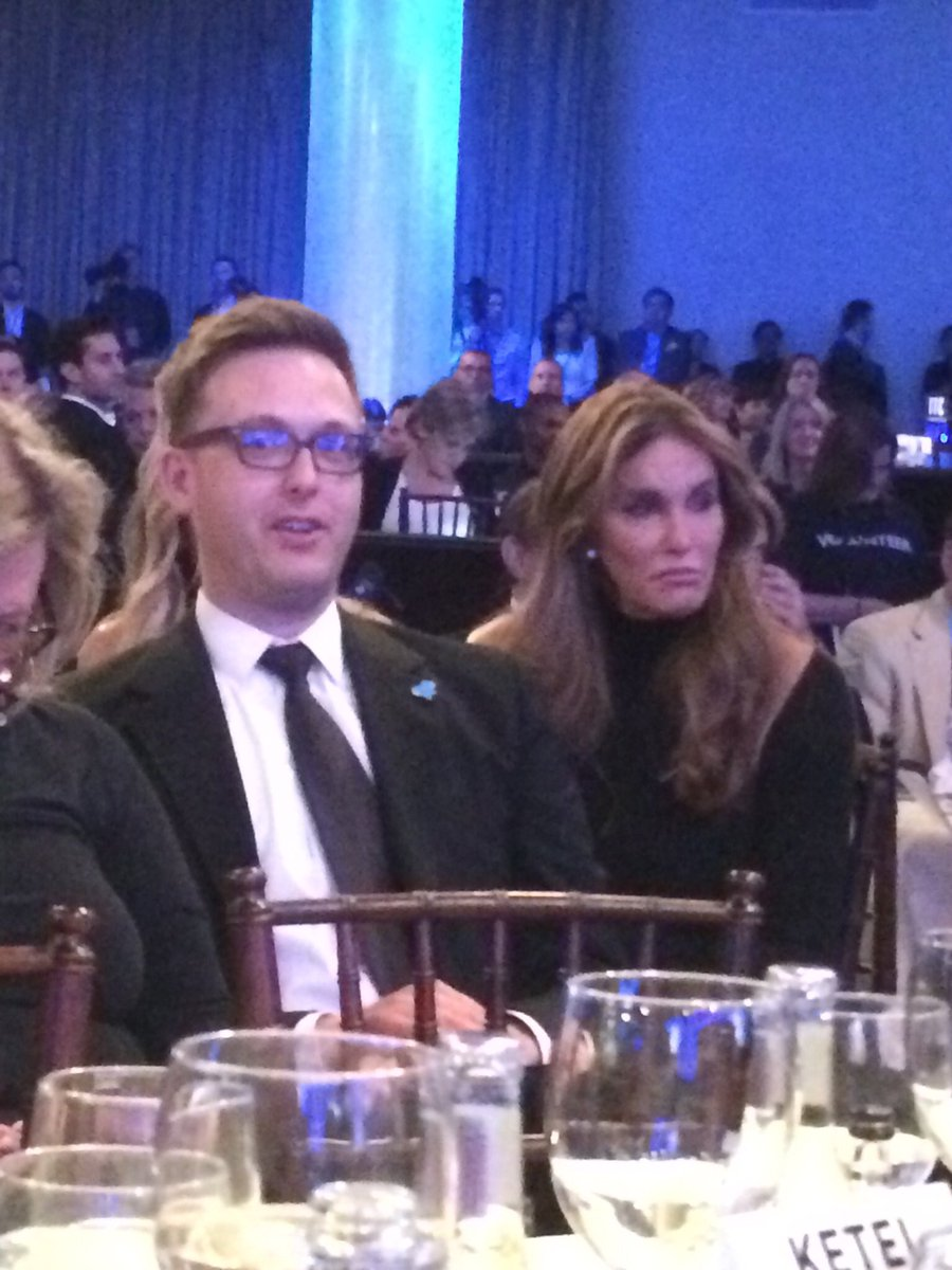 Seated next to the delightful Caitlyn Jenner at the #GlaadAwards