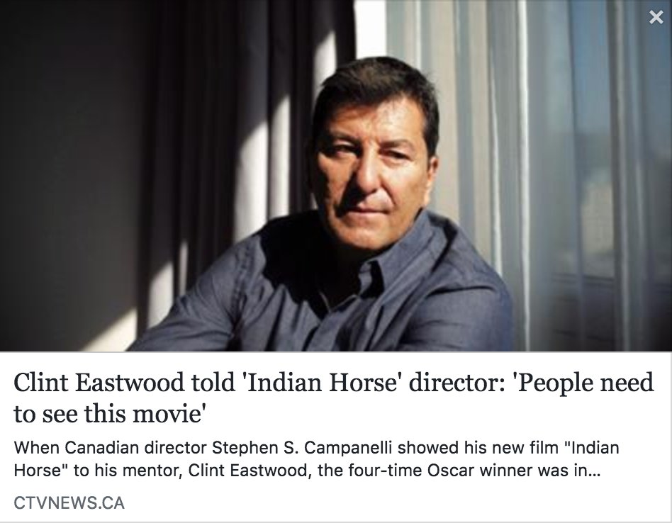 Clint Eastwood told Indian Horse director People need