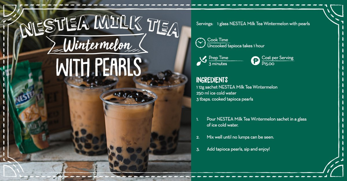 We're crazy for this classic NESTEA Milk Tea Wintermelon with Tapioca! 'Sing sarap ng sa milk tea shop! Try it today! https://t.co/GWthUe6JQ6