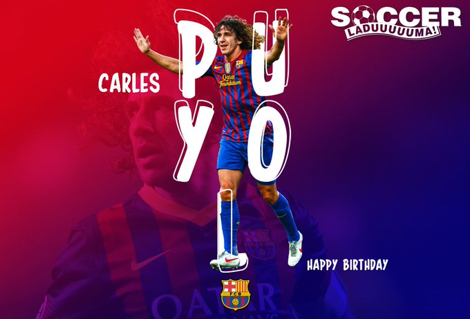Barcelona\s historical captain, Carles Puyol turns the big 40 today! Join us in wishing him a Happy Birthday!