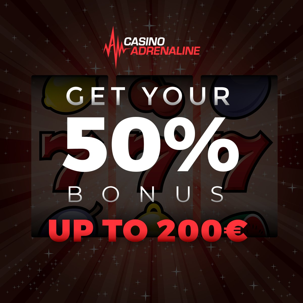 test Twitter Media - This Friday get your 50% bonus up to 200 EUR. Get your 50x bonus and deposit today! 👍😎 #CasinoAdrenaline #CasinoAdrenalingaming #casinos #slot #casinoluck #enjoythegame https://t.co/YBFjsxkCfV