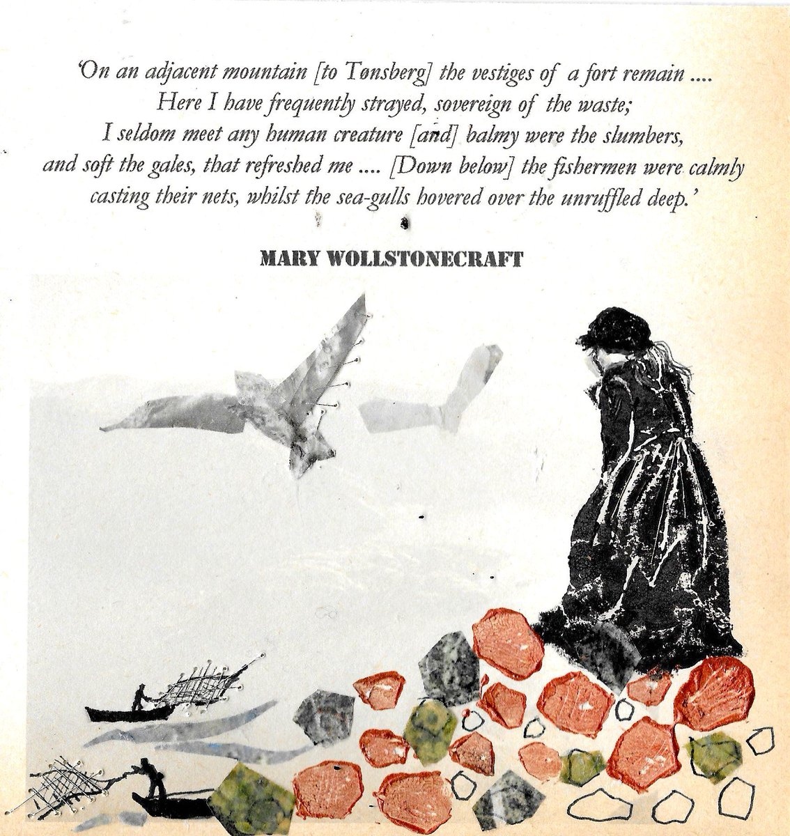 To commemorate #MaryWollstonecraft&#39;s birthday on 27 April, I am showing art inspired by her #Letters from #Norway at @Bookmarks_books the socialist bookshop, Bloomsbury Street, London, 16–30 April - come see art &amp; liberate your minds in the largest socialist bookshop in Britain.<br>http://pic.twitter.com/3At5HJq4H1