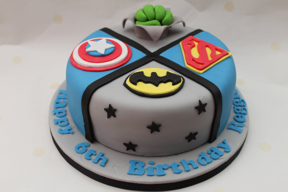 Stupendous Striped Apron Bakery On Twitter Superhero 6Th Birthday Cake Funny Birthday Cards Online Alyptdamsfinfo