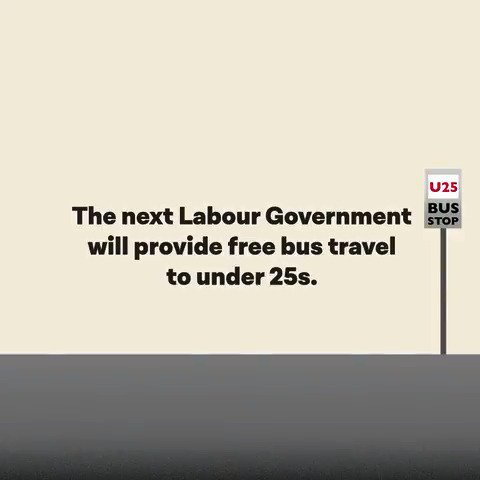 Free bus travel for under 25s? There's never been a better time to get on board with Labour. https://t.co/XfGX24snGe
