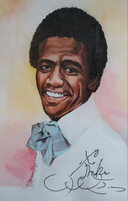 He was given my pencil and he signed my watercolor. <3 HAPPY BIRTHDAY, REVEREND AL GREEN!