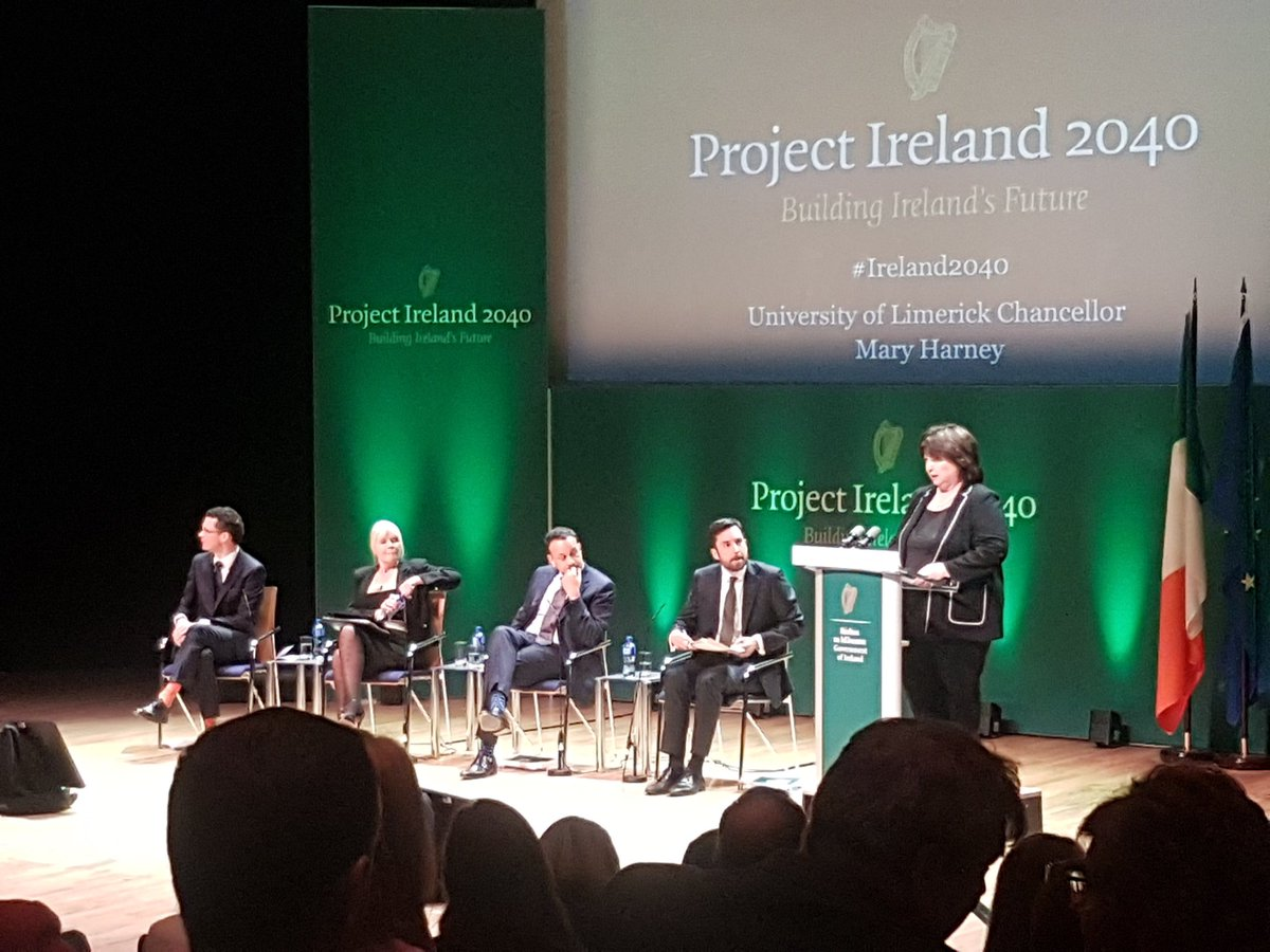 #Ireland2040 mid west launch with @podonovan @mitchelloconnor @campaignforleo @MurphyEoghan and Mary Harney  @IDA_MidWest #thinkbigatul <br>http://pic.twitter.com/HLuPiliMYB