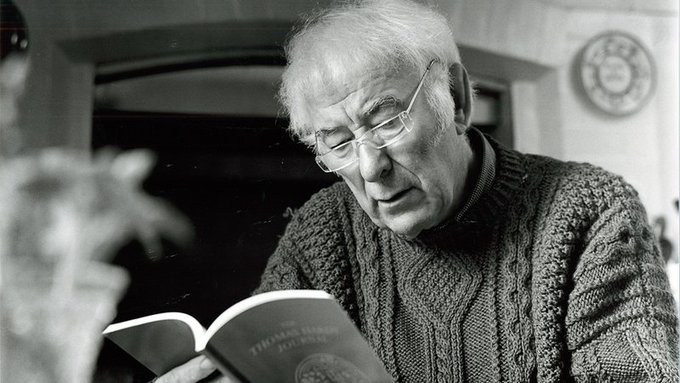 \If you have the words, there\s always a chance that you\ll find the way.\  Happy Birthday Seamus Heaney