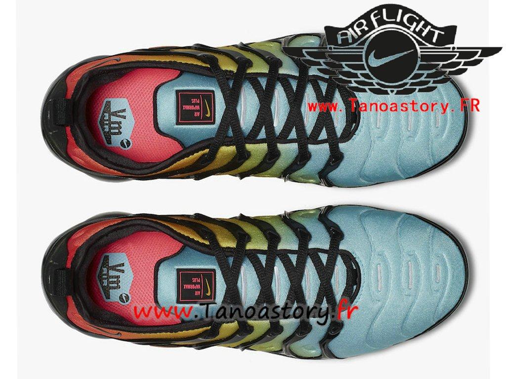 low priced 15ebd b4eb6 Nike Air VaporMax Plus Couleur  Noir   Noir-Bleached Aqua-Vivid Sulphur  Code de style  AO4550-002 Date de sortie  le 25 janvier 2018 ...
