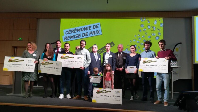 Un grand bravo à tous les lauréats du concours d'idée à la création d'#entreprises. Des projets ambitieux, innovants, écologiques, portés par des #jeunes, des #reconversions, des #femmesentrepreneurs Autant de coups de cœurs! Merci à M. Dumont & @CA_ConsuFinance de leur accueil. https://t.co/iDNPC18fBj