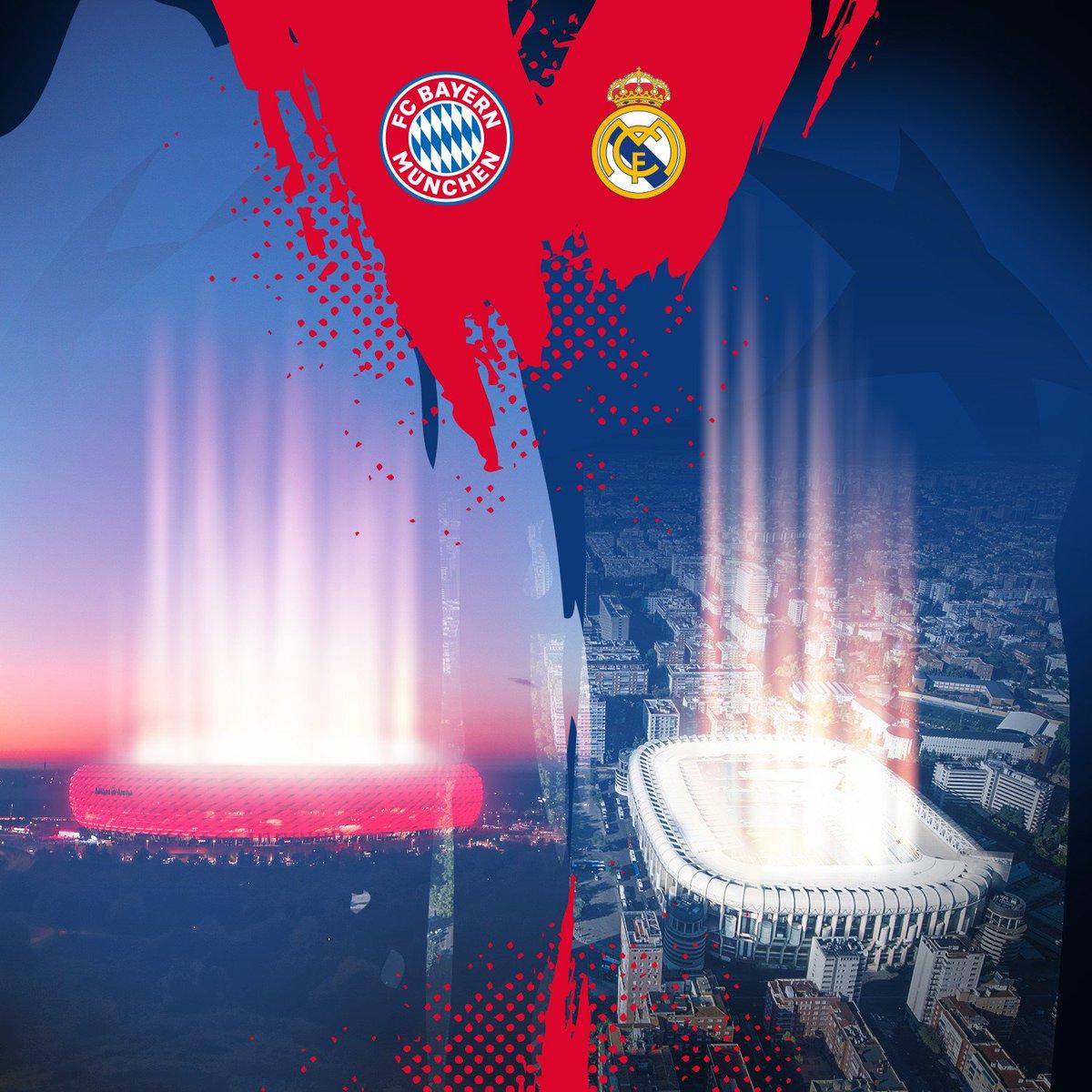 🏟 Hinspiel in der #AllianzArena ✈ Rückspiel im Estadio Santiago Bernabéu  #PACKMAS #FCBRMA #RMAFCB @ChampionsLeague