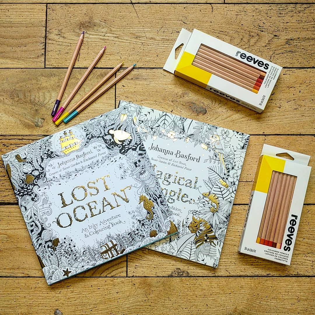 Fridaygiveaway Head To Our Instagram Page For The Chance Win Two Johannabasford Colour Books And WeAreReeves Pencils