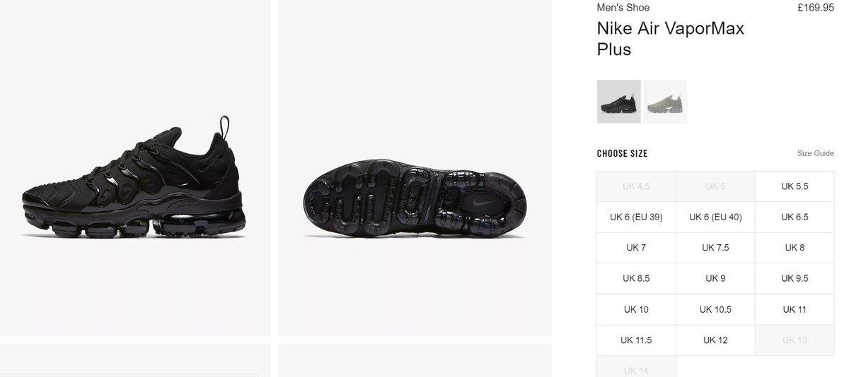 4faf77698260 ... best price the sole restocks on twitter nike air vapormax plus triple  black. restock at