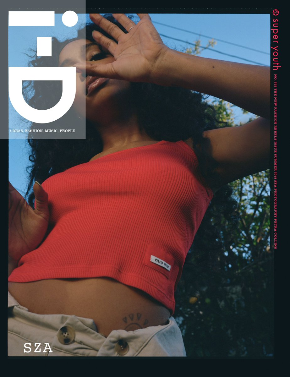 It's @SZA on the cover of i-D's The New Fashion Rebels Issue, shot by @petracollins: https://t.co/JuK4Y5s6In