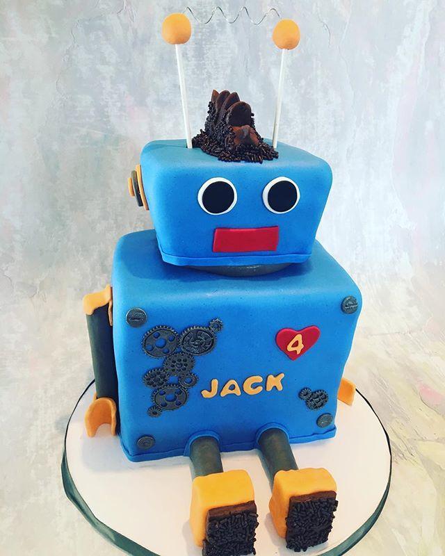 Excellent Live Love Bake On Twitter Robot Birthday Cake Llbake Birthday Funny Birthday Cards Online Alyptdamsfinfo